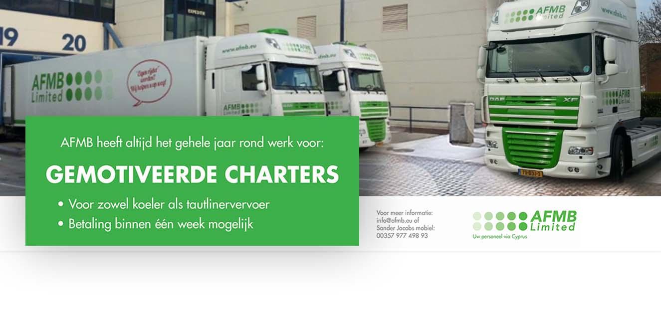 Charters gezocht